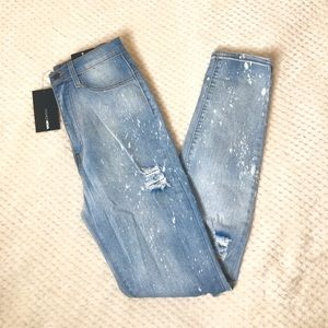 Fashion Nova High Rise Distressed Skinny Jeans